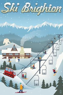 Brighton, Utah - Retro Ski Resort by Lantern Press