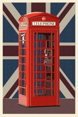 British Phone Booth by Lantern Press