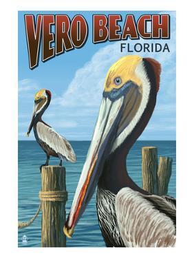Brown Pelicans - Vero Beach, Florida by Lantern Press