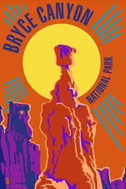 Bryce Canyon National Park - Psychedelic by Lantern Press