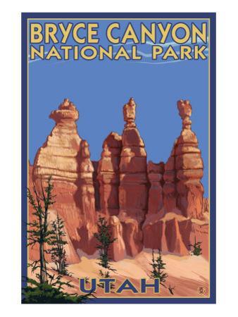 Bryce National Park, Utah, Summer Scene