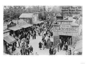 Buena Park, California Knotts Berry Place Ghost Town Photograph - Buena Park, CA by Lantern Press
