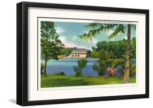 Buffalo, New York - Cazenovia Park View of the Lake and Casino by Lantern Press