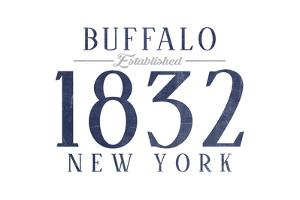 Buffalo, New York - Established Date (Blue) by Lantern Press