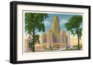 Buffalo, New York - Exterior View of City Hall and the McKinley Monument by Lantern Press