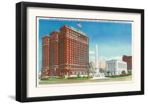 Buffalo, New York - NY State Office, Statler Hotel, McKinley Monument View by Lantern Press