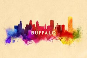 Buffalo, New York - Skyline Abstract by Lantern Press