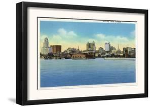 Buffalo, New York, View of the City Skyline from the Harbor by Lantern Press