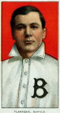 Buffalo, NY, Buffalo Minor League, Steamer Flanagan, Baseball Card by Lantern Press