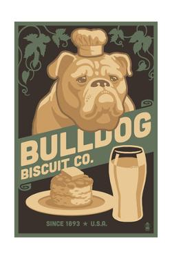 Bulldog - Retro Bisquit Ad by Lantern Press