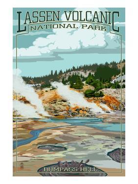 Bumpass Hell - Lassen Volcanic National Park, CA by Lantern Press