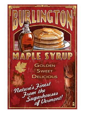 Burlington, Vermont - Maple Syrup by Lantern Press