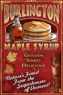 Burlington, Vermont - Maple Syrup by Lantern Press