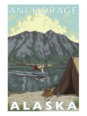 Bush Plane & Fishing, Anchorage, Alaska by Lantern Press