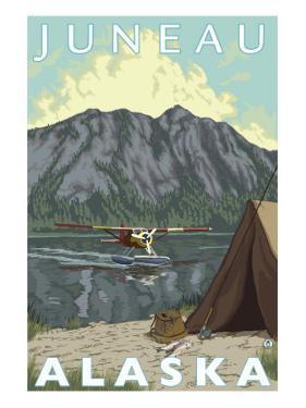 Bush Plane & Fishing, Juneau, Alaska by Lantern Press