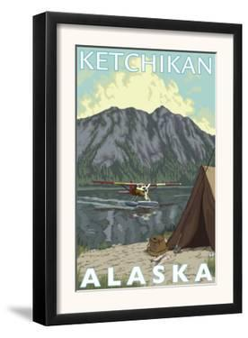 Bush Plane & Fishing, Ketchikan, Alaska by Lantern Press