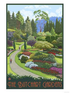 Butchart Gardens - Brentwood Bay, British Columbia, Canada by Lantern Press