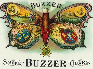 Buzzer Brand Cigar Inner Box Label by Lantern Press