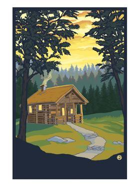 Cabin in the Woods by Lantern Press