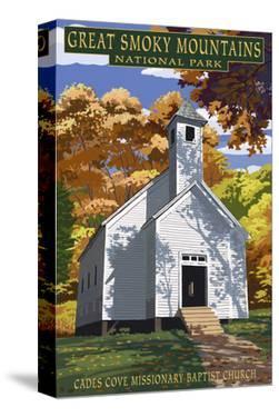 Cades Cove Baptist Church - Great Smoky Mountains National Park, TN by Lantern Press