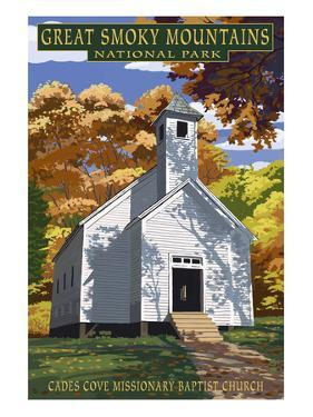 Cades Cove Baptist Church - Great Smoky Mountains National Park, TN by Lantern Press