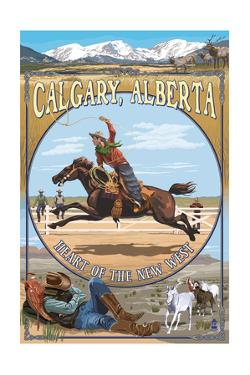 Calgary, Alberta, Canada - Heart of the New West by Lantern Press