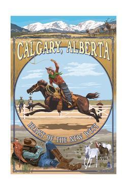 Calgary, Alberta, Canada - Heart of the New West by Lantern Press