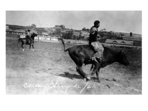 Calgary, Canada - Bullriding at the Stampede by Lantern Press