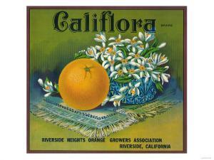 Califlora Orange Label - Riverside, CA by Lantern Press