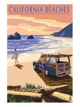 California Beaches - Woody on Beach by Lantern Press