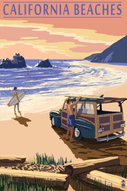 California Beaches - Woody on Beach by Lantern Press