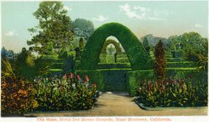 California - Hotel Del Monte View of the Maze Near Monterey by Lantern Press
