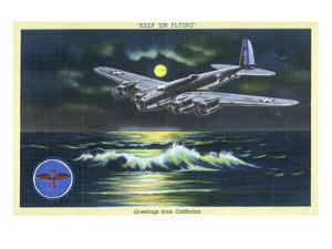 California - Keep 'em Flying, WWII Aviation Promotion by Lantern Press