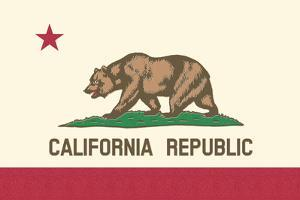 California State Flag by Lantern Press