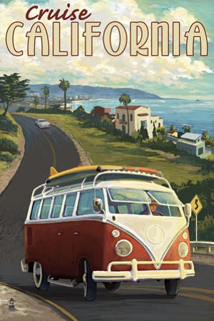 California - VW Van Cruise by Lantern Press
