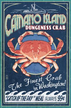 Camano Island, Washington - Dungeness Crab by Lantern Press