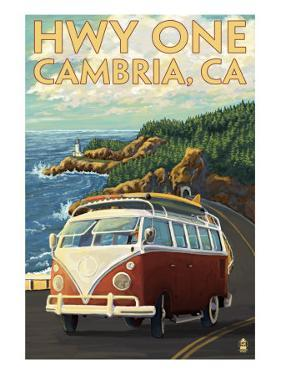 Cambria, California - Highway One Coast, c.2009 by Lantern Press