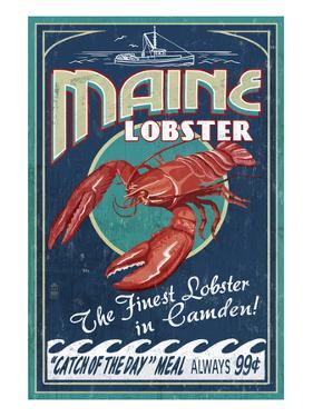Camden, Maine - Lobster by Lantern Press