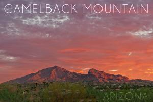 Camelback Mountain, Arizona - Sunset by Lantern Press
