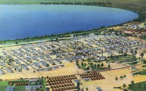 Camp Blanding, Florida - Kingsley Lake Aerial View by Lantern Press