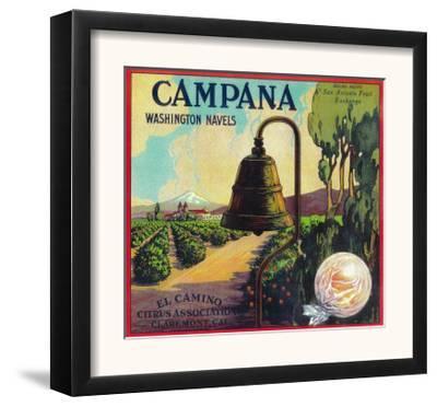 Campana Orange Label - Claremont, CA by Lantern Press