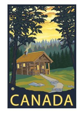 Canada, Cabin Scene by Lantern Press