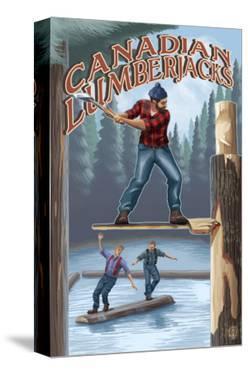 Canada, Canadian Lumberjacks by Lantern Press