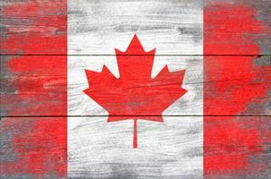 Canada Country Flag - Barnwood Painting by Lantern Press