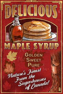 Canada - Vintage Maple Syrup Sign by Lantern Press