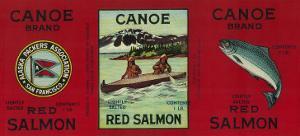 Canoe Salmon Can Label - San Francisco, CA by Lantern Press