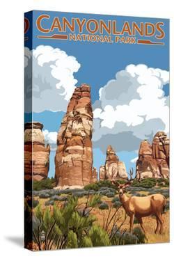Canyonlands National Park, Utah - Chesler and Deer by Lantern Press