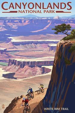 Canyonlands National Park, Utah - Conflunce and Bikers by Lantern Press