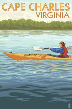 Cape Charles, Virginia - Kayaker by Lantern Press