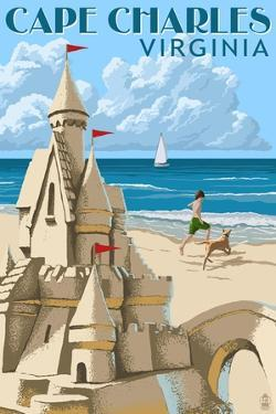 Cape Charles, Virginia - Sandcastle by Lantern Press